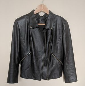 Theory Black Leather Jacket